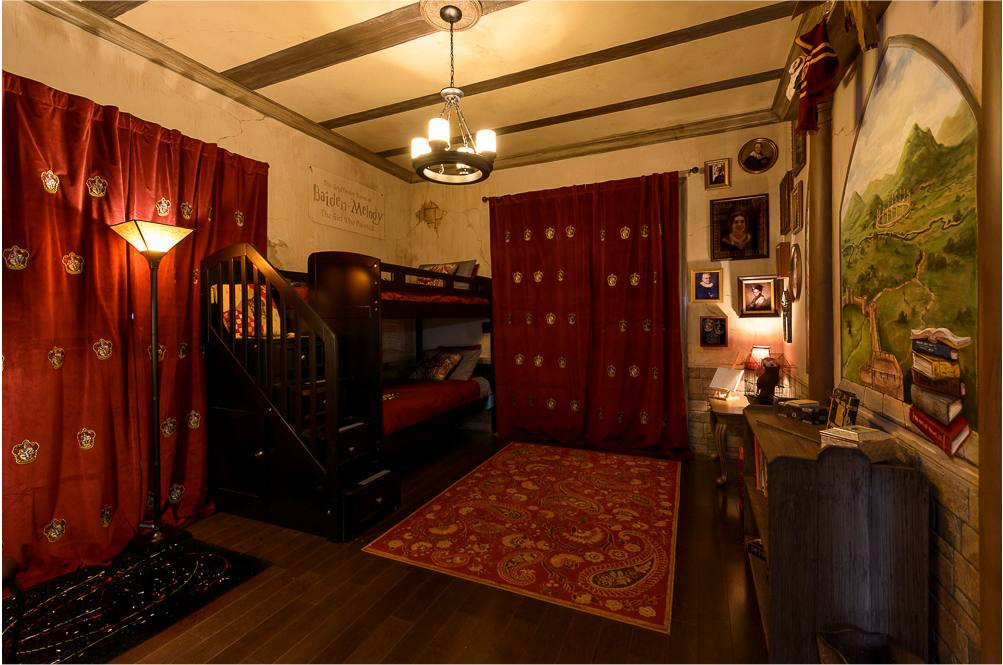 harry potter themed bedroom at ever after estate